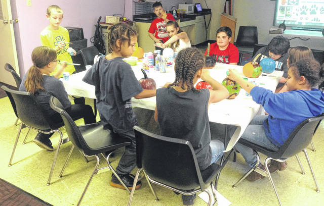 On Oct. 18, Carnegie Public Library teens made fabulous painted creations using pumpkins from Bentley's Pumpkin Farm.