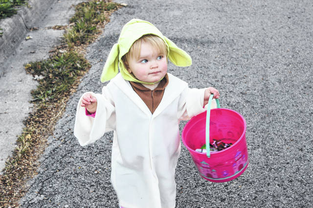 The force was with Ariel Graham (dressed as Yoda) Thursday as she celebrated her second Beggar's Night.
