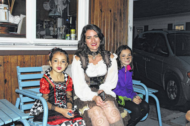 The City of Washington Court House held Beggar's Night Thursday. With wonderful weather for the event, Abbey Baldwin, Susan Baldwin and McKenna Baldwin enjoyed an evening of Trick-or-Treating.