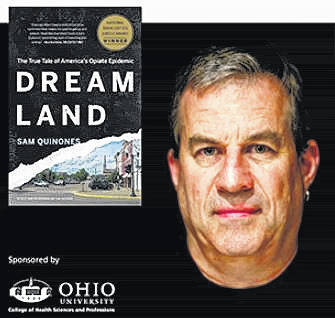 """Sam Quinones, author of the book """"Dreamland: The True Tale of America's Opioid Epidemic"""" came to Athens, Ohio this week."""