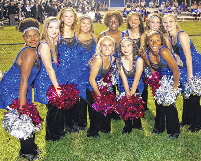 The Washington Dance Team is pictured at the Hillsboro game Friday, Oct. 6, 2017. (front, l-r); Kiersten Wilson, Courtney Southworth, Amya Haithcock; (back, l-r); Ji'kailah Marks, Amanda Kelley, Raven Haithcock, Echo Flora, Bianca Rogers-Wright, Jocelyn Trimmer, Haley Hixson and Kieara Hites.