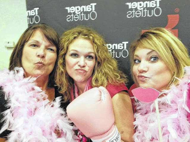 Local leaders joined in the fun of Girls Night Out on Wednesday. Pictured (L to R): Jolinda Van Dyke, the executive director of Fayette County Travel & Tourism, Kristen Hauer, Tanger Outlets Jeffersonville GM and Chelsie Hornsby, FCMH director of business development.