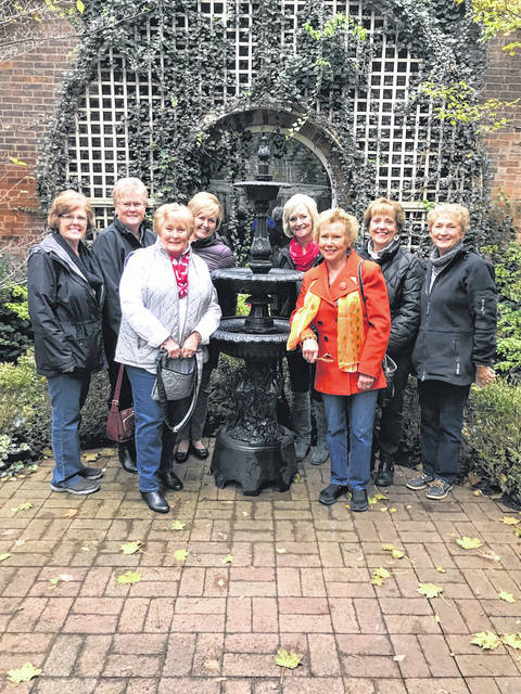 The Deer Creek Daisies recently visited the Kelton House for their October meeting. Pictured from left to right are Jeanne Miller, Judy Gentry, Kendra Knecht, Billie Lanman, Emily King, Connie Lindsey, Rita Lanman and Marty Cook.