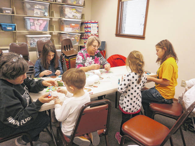 Creativity was in abundance during the recent Christmas Crafternoon at Jeffersonville Branch Library.
