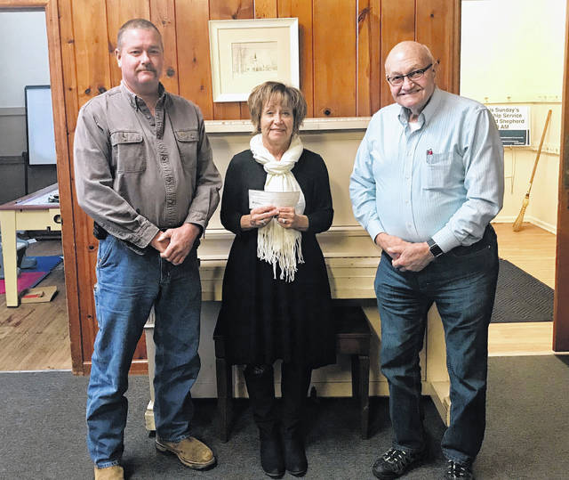 The BPOE Washington C.H. Elks Lodge #129 donated $300 to the 2017 SOCKS Program at the St. Andrews Episcopal Church. From left to right are: Dennis Noble, Elks Lodge #129 officers; Sally Roberts, SOCKS co-coordinator; and Charlie Dodds, Elks Lodge #129 trustee. Also upcoming is the 39th-annual Tis The Season Breakfast. Each year, the Elks Lodge 129 provides a breakfast to raise money to give back to our community. This year the event will be held on Sunday, Dec. 17 from 7 a.m. to 1 p.m. As part of this event, several raffles will be held that morning with items donated by various people and businesses in the community.
