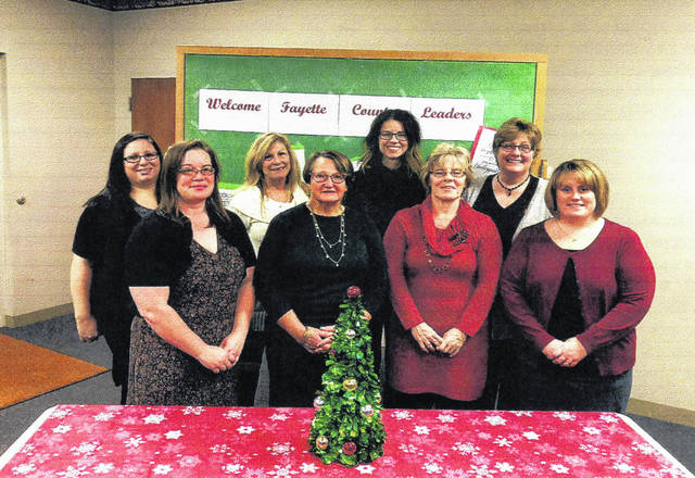 Eight community residents graduated from the 2017 Leadership Fayette recently. The group of eight divided into two groups to tackle community needs and learn how they can be a leader in their town. Front row (L to R): Tara Ivers, Sara Creamer, Judy Havens and Amy Joseph. Back row: Jessica Merritt, Melinda Hellard, Chelsie Baker and Colleen Roundhouse.