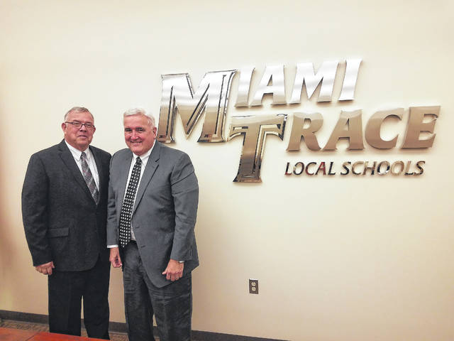 The 2018 Miami Trace Local School District school board president is Mike Henry (right) and vice president is Charlie Andrews.