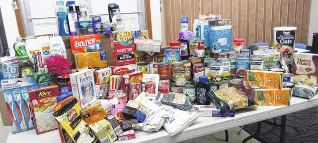 """Generous patrons donated scores of items to Carnegie Public Library's """"Food and Sundries Drive,"""" which ran through November and December. The items will be taken to The Well at Sunnyside and the local food pantry. Thank you to all who helped make this endeavor a success!"""