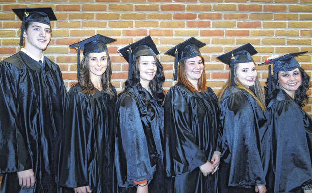 The 11th graduating class of Southern State Community College's Respiratory Care program includes (l-r) Connor Harris, Samantha Vergamini, Kathryn Seyfang, Mallory Conrad, Theresa Elrich and Sierra Houser.