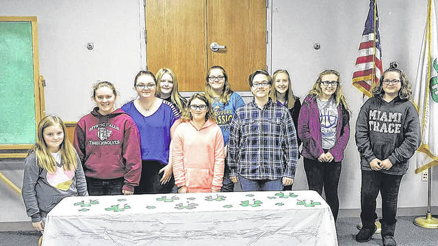 The Packrat Crafters 4-H Club held its first meeting of the year.