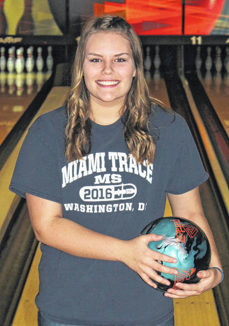 Miami Trace freshman Gabby McCord, above, has qualified to the Division II State bowling tournament which is being held Saturday in Columbus.