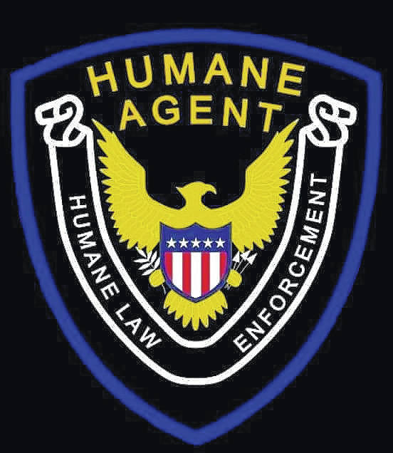 An example of a Humane Society agent badge.