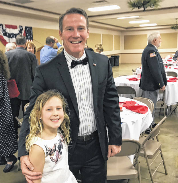 Ohio Secretary of State Jon Husted and his daughter, Kylie, were in attendance for Monday evening's Lincoln Day Dinner. The 55th-annual dinner, organized by the Fayette County Republicans, was held at the Mahan Building on the Fayette County Fairgrounds.