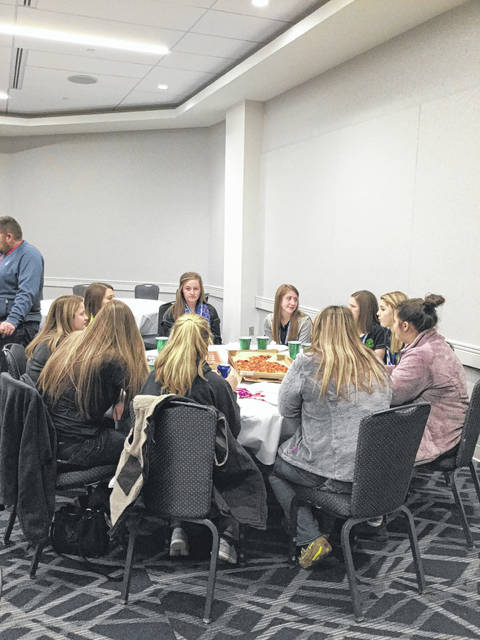 Junior Fair Board members were served lunch by the Senior Fair Board at the 2018 Ohio Fair Managers Convention.