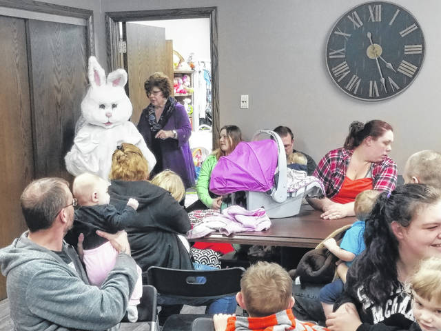 The LIFE Pregnancy Center in Washington C.H. hosted Pastor Jeremy Griffith and the Easter bunny Wednesday afternoon. Pastor Griffith spoke about the story of Jesus Christ and the resurrection before the Easter bunny took photos with many kids in attendance. LIFE Pregnancy treated guests with treats and gifts to celebrate the holiday.