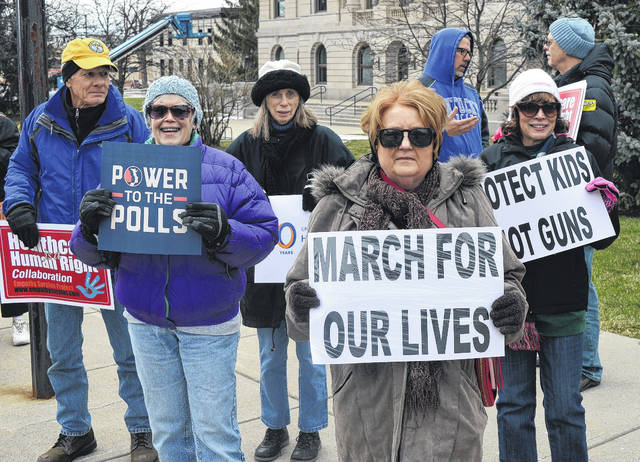 Thirty-nine local citizens demonstrated for gun control and the prioritization of people's lives and safety Saturday in Wilmington, one of hundreds of the March For Our Lives events nationwide.