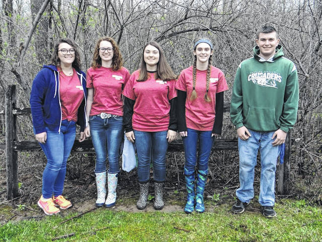 The Fayette Christian team that competed in the Envirothon consisted of (left to right) Hannah Turner, Cheyenne Williams, McKenzie Riley, Summer Hurles and Noah Gibbs.
