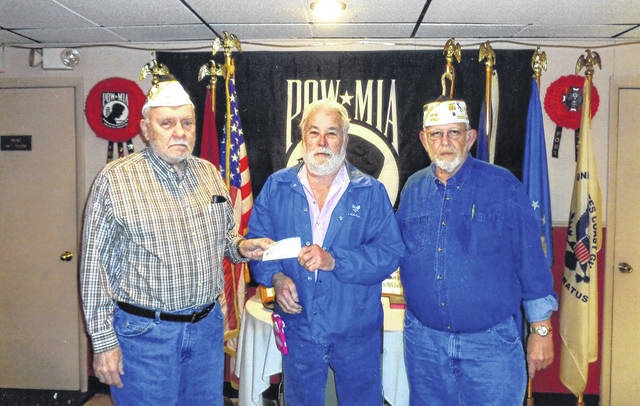The VFW Post 3762 recently donated to Buckeye Boys' State. Pictured (L to R): Bob Malone, Glen Rankin and Sheldon Litton.