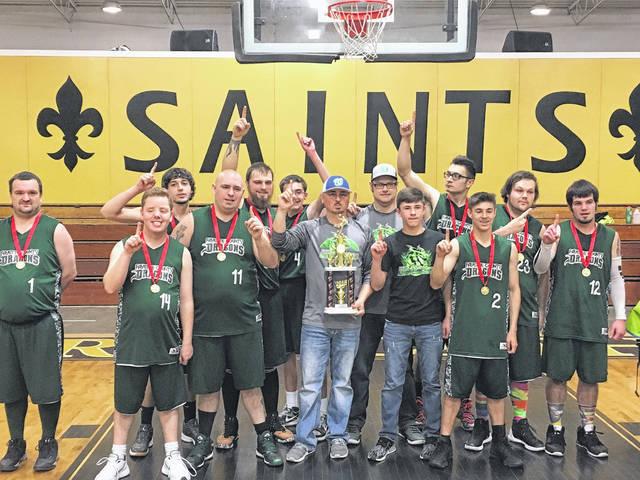 The United Way of Fayette County also supported Fayette County Special Olympics with available funding. Pictured is the varsity Dragons team that recently won the Division II state title in basketball.