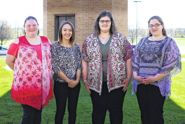 The 20th graduating class of Southern State Community College's Billing & Coding Specialist program includes: (l-r) Daniel Marsh, Kaitlyn Deaton, Abigail Haught, and Sarah Stemann.