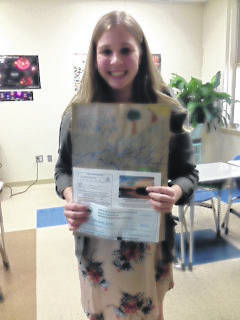 Kendal Dye was the second place winner from the seventh grade science class in the FSWCD poster contest.