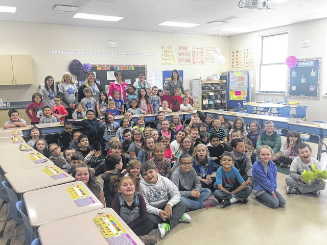 Cherry Hill students from Miss Maggie Hedrick's, Mrs. Tiffany Null's, Mrs. Jenny Woods' and Mrs. Angela Holley's/Miss Rebecca Matthew's classes used their talents to make the 156 placemats and 173 cards for community members that receive meals from the food programs.
