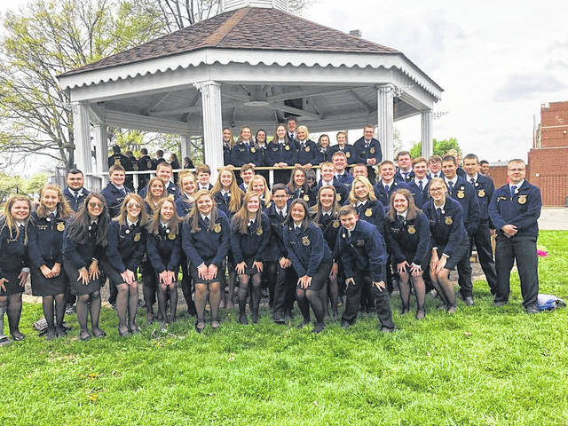 Over 40 Miami Trace FFA members attended the 90th Ohio FFA Convention at the Ohio State Fairgrounds on May 3 and 4.