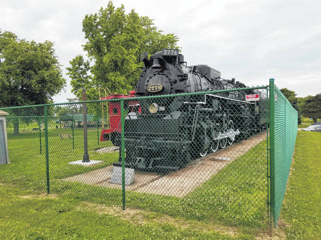 The train display at Eyman Park in Washington Court House.