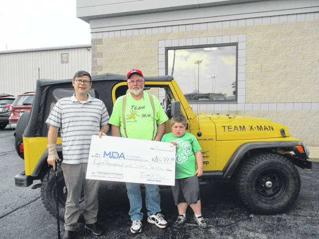 Team X-man recently presented the funds raised during 2017 to the Muscular Dystrophy Association to help those afflicted with the disease find a cure.