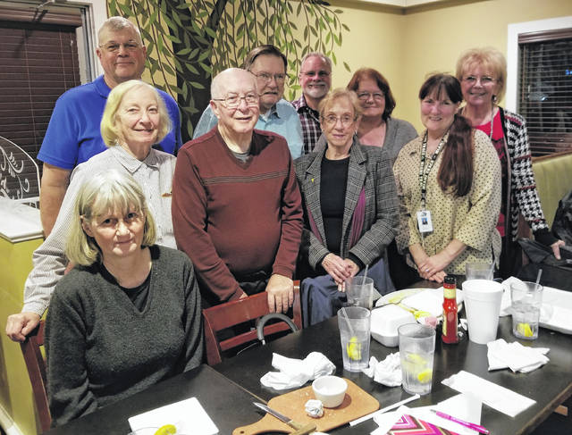 Modern Woodmen members pictured left to right; first row - Julia Curry, Fred Summers, Ellie Dowler, and Debra Grover. Second row - Sam Terrell, Ron Dowler, Dan Mayo, Gaye Huffman, the shelter coordinator, and Bev Mayo.
