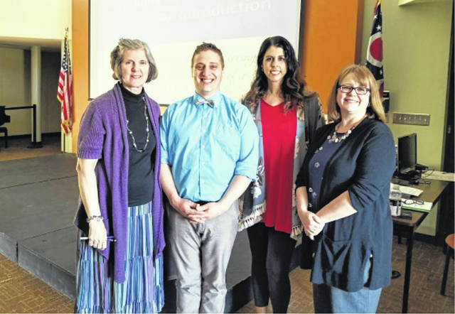 """From left to right, Dr. Angela Everson Ray, Allen Sanders, Cheryl Binegar and Dr. Lisa Gordish participated in the second """"Trauma-Informed Care"""" presentation recently."""