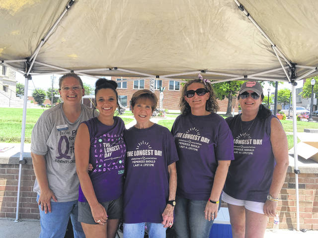 From left to right, members of The Longest Day committee, Sarah Dutton, Valerie Carobeh, Barb Creamer, Abby Hendricks, Beth McCane.
