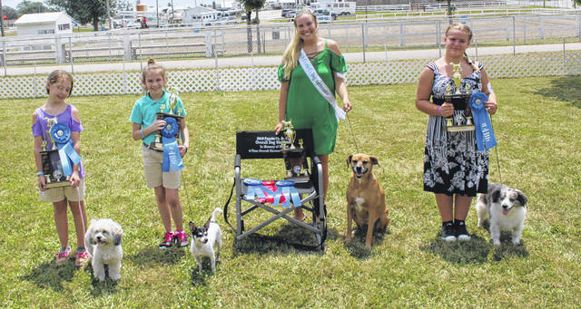 At Monday's Fayette County Junior Fair Dog Show, the showmanship category class winners were: Gabbi Thoroman, Laine Holstein, Khenadi Grubb and Hailey Honicker.