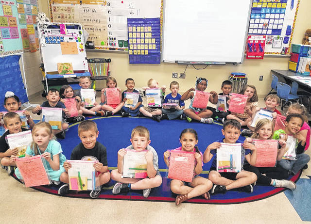 Stephanie Seymour's kindergarten class made a gearing up for kindergarten packet that was given to Cherry Hill Primary preschool students