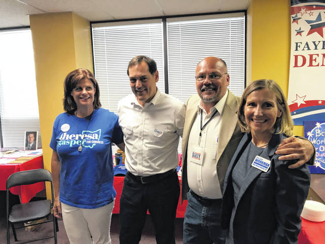 At the recent grand opening of the Fayette County Democrats' headquarters, located at 153 S. Main St. Suite #1 in Washington C.H., several candidates were in attendance, including: Theresa Gasper, candidate for U.S. 10th Congress District; Zack Space, candidate for Ohio Auditor; Scott Dailey, candidate for Ohio Senate; and Beth Workman, candidate for Ohio House District 92.