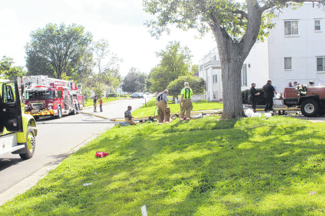 Multiple fire departments mobilized Wednesday afternoon — including the Washington Fire Department and BPM Joint Fire District — on a report of a possible fire in the basement of the old Carlton Manor nursing home on Rawlings Street in Washington Court House. No additional information was available as of press time Wednesday.