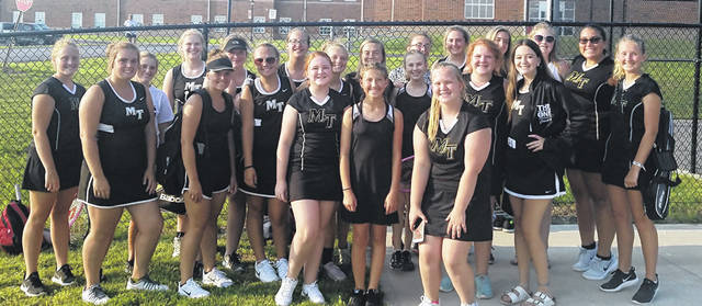 The Miami Trace girls tennis team at their season-opening match at Hillsboro High School Tuesday, Aug. 14, 2018.