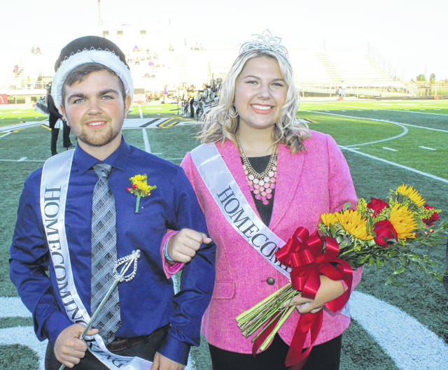Miami Trace High School held their 2018 homecoming festivities Friday night prior to the Panthers vs. McClain football game. Miami Trace High School Homecoming King Cole Howland and Homecoming Queen Abbi Pettit came onto the field and thanked their fellow students, parents and fans.