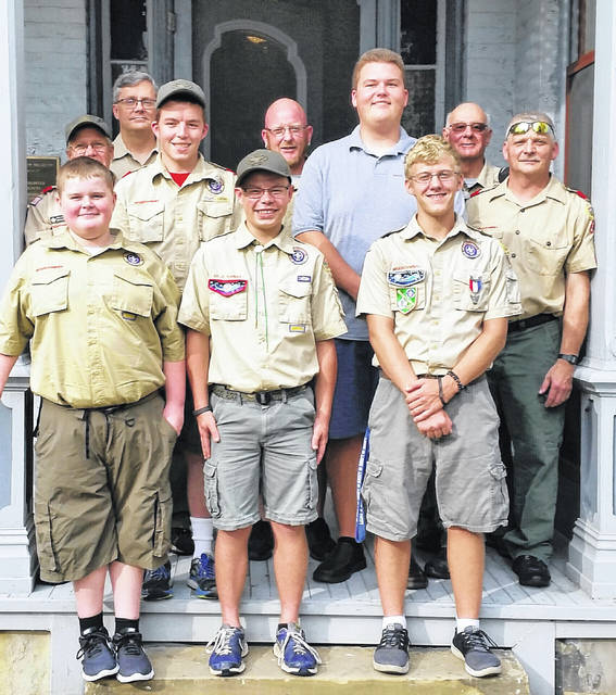 From left to right, Caleb Wilt, Jake Pickelheimer, Dan Bishop, Joshua Pickelheimer, Joey Pickelheimer, Jim Wilt, Dylan Page, Nate Horton, Larry Bishop and Dave Bunch.