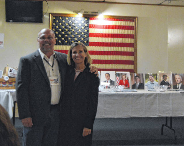 Scott Dailey, candidate for Ohio State Senate District 17, and Beth Workman, candidate for House of Representatives District 92, recently spoke at the Fayette County Democrats' meet and greet dinner.