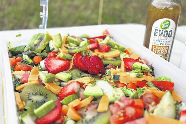 Autumn Salad is a refreshing treat, this is a photo of the actual salad served at Gloria's gathering.