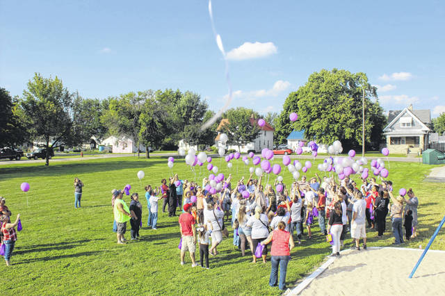A balloon launch was held at Rose Avenue Community Center in honor of International Overdose Awareness Day.