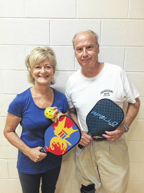 The first Pickleball games played on the new pickleball courts at Eyman Park on Sept. 22 were a success, according to organizers. Suzie McCracken and George Smith placed second in the Competitive/Advanced Category.