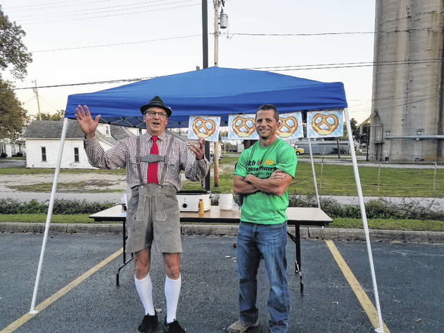 St. Colman of Cloyne Parish will hold the third-annual Oktoberfest on Oct. 20 on the St. Colman Grounds and Parish Center at 219 S. North St. Dan Stahl (at left) greets guests while dressed in his appropriate Oktoberfest attire.