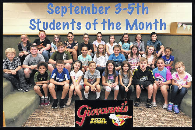 The third through fifth grade students of the month were (L to R): front row: Xavier Harris, Craig Beaver, Lilliah Stickel, Carter Davidson, Izzy hall, Faith Vaughn, Tommy Garrison, keiana Toles and Megan Elliott. Middle row: Wade Charters, Holten Pepper, Waylon Horton, Rhiley Keaton, Avery Leisure, Kaiden Taylor, Aerial Hagl, Miley Blake-Depew and Keionnie Ackley. Back row: Carlee Hauck, Lilly Hamilton, Aryana Wynkoop, Ryleigh Vincent, Tanner Eggleton, Paige Mathias, Emily Boysel, Ella McCarty, Hailey Webster and Logan McCarty. Not pictured: Hannah Roath and Emma Bower.