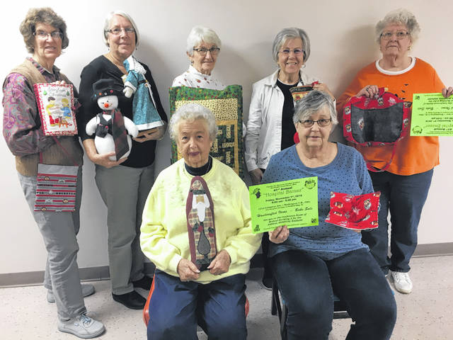 The Fayette County Memorial Hospital Auxiliary will hold the 41st Holiday Bazaar on Nov. 9 from 9 a.m. to 5 p.m. This will be held in Medical Building II in the meeting room which is to the left at the entrance to the building. There will be many Christmas objects to consider besides the everyday objects. There also is a bake sale available as long as the goodies last. Part of the seamstresses and crafty members are shown in the included picture. In the front row are Jody Hanawalt and Carolyn Reinwald. In the back row are Barbara Vance, Beth Foster, Ruth Curry, Rita Brown and Patsy Stevens.