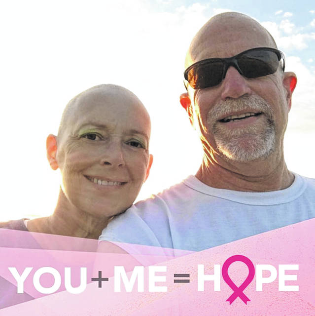 About a year ago when Becky Ream started to lose her hair during chemo treatments, her husband Brian also shaved his head.