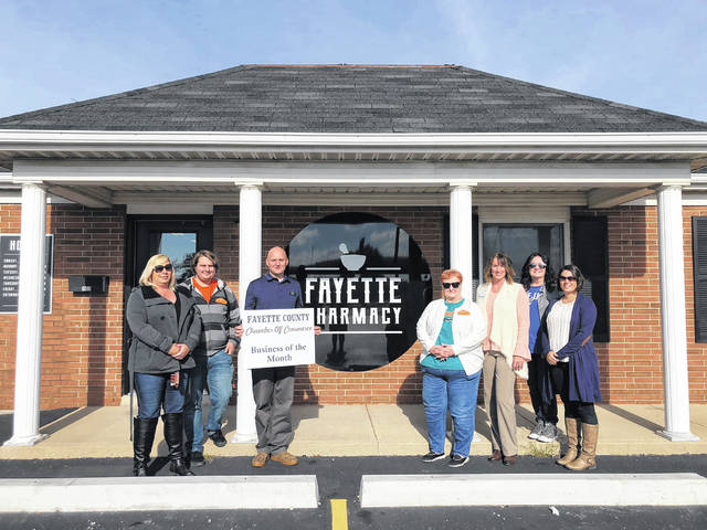 The Fayette County Chamber of Commerce Ambassadors named Fayette Pharmacy their October Business of the Month. Operating from their new location at 1500 Columbus Ave., pharmacist Rod Banks and staff welcome residents to visit. While their location is new, their dedication to high quality patient care remains the same. The Chamber of Commerce thanked and congratulated the business on their new location and for being a valued member.