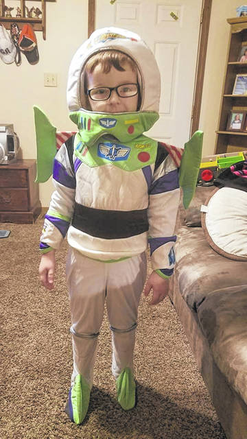 Jaxon Meadows was set to hit the town as Buzz Lightyear.