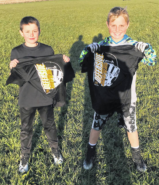 Miami Trace Youth Football Program Players of the Week for games played the weekend of Oct. 20 and 21, 2018. (l-r); Mason Buchammer, Defensive Player of the Week and Kaden Bryant, Offensive Player of the Week.